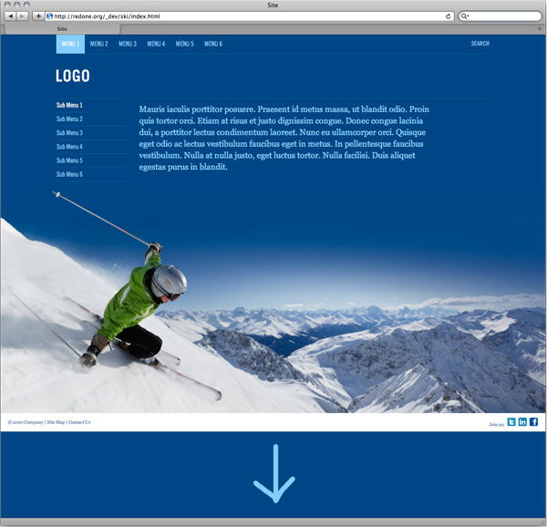 Sticky footer with resizing background image - HTML & CSS